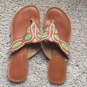Coconuts beaded sandals